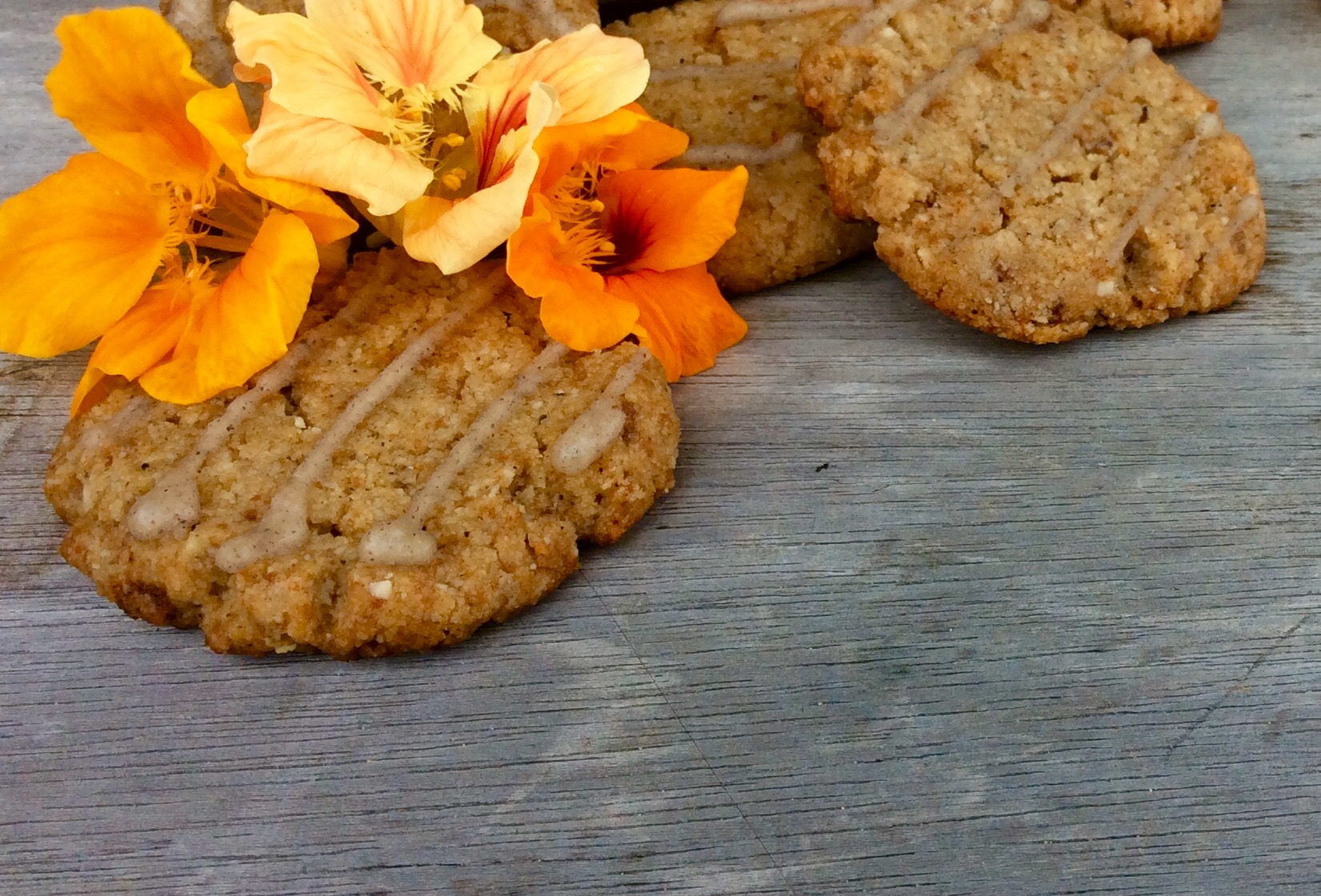 Gluten Free, Vegan, Chewy Tahini Cardamom Cookies from the Homecooked with Love food blog