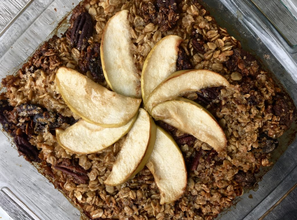 Apple and Fig Baked Oatmeal
